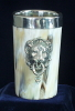 Horn goblet 4,8 inch lion head